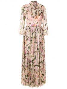 Dolce & Gabbana Lilly Print Mazi Dress suitable for a garden or beach wedding