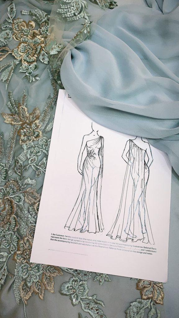 D'Italia Couture Sketch by D'Italia Designer