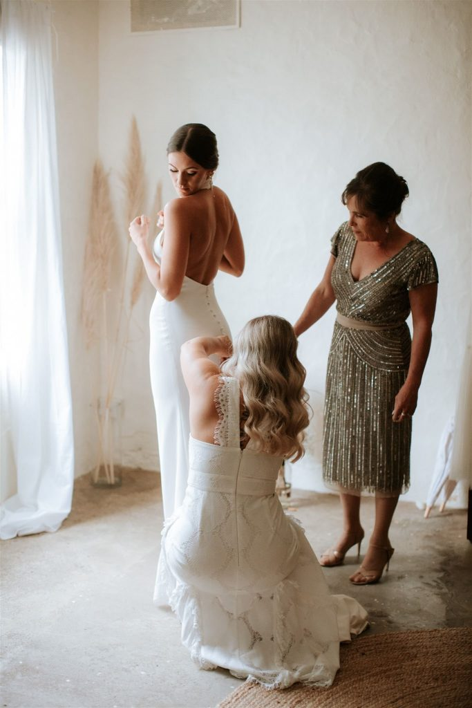Bride Rebecca Falsone and Mohter of the Bride and Bridesmaid, photo by Shot from the Heart